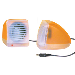PAIRE D'ENCEINTE STEREO ORANGE 2X1W 65MM