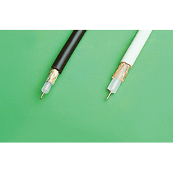 Cable coaxial blanc