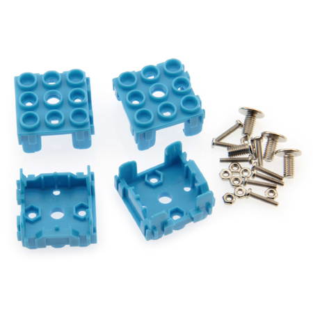 Lot de 4 supports pour module Grove 1 x 1 bleu
