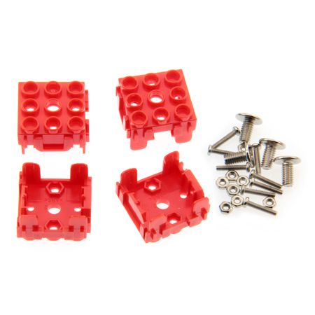 Lot de 4 supports pour module Grove 1 x 1 rouge