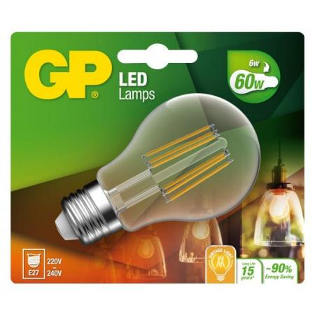 gp ampoule led filament e27 6w-60w