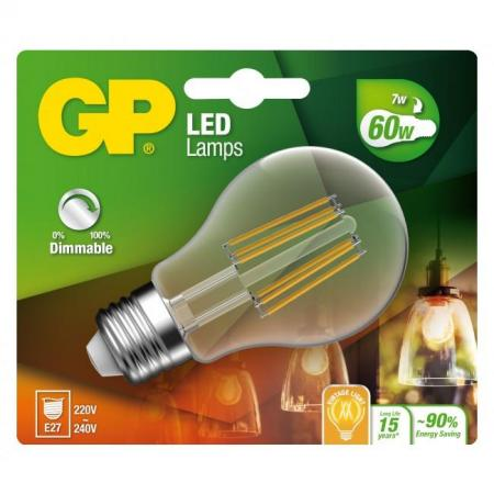 gp ampoule led filament e27 7w-60w